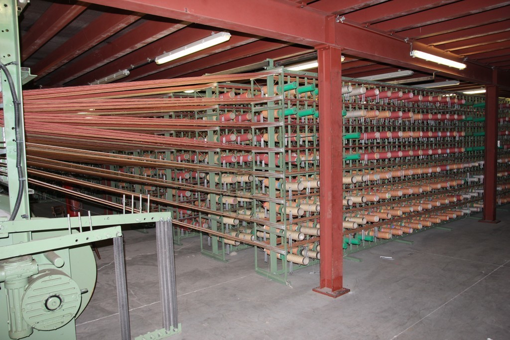 Weavingloom for weaving carpet.